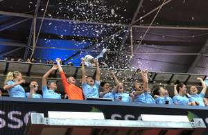 Manchester City lift the cup